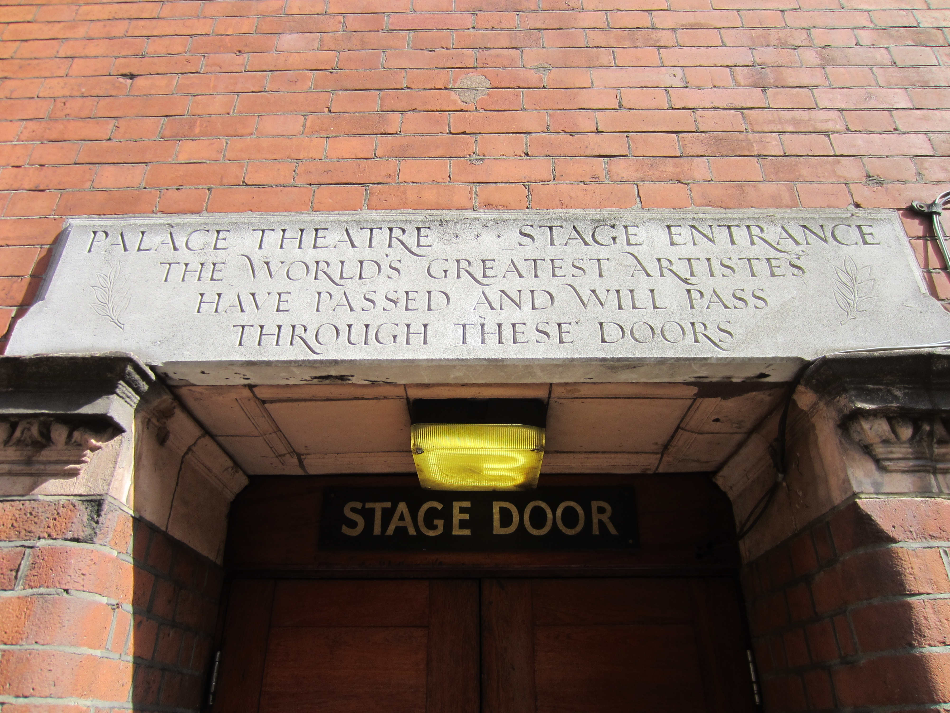 Image result for Palace Theater London Stage entrance