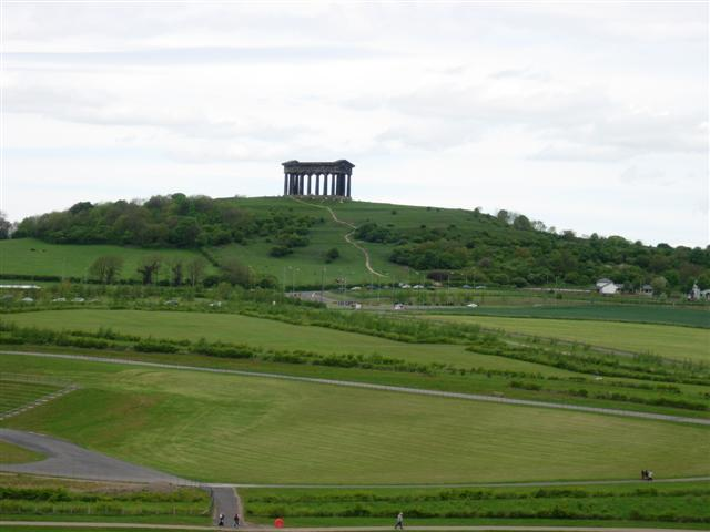 Penshaw Monument as seen from Herrington Country Park - geograph.org.uk - 172955