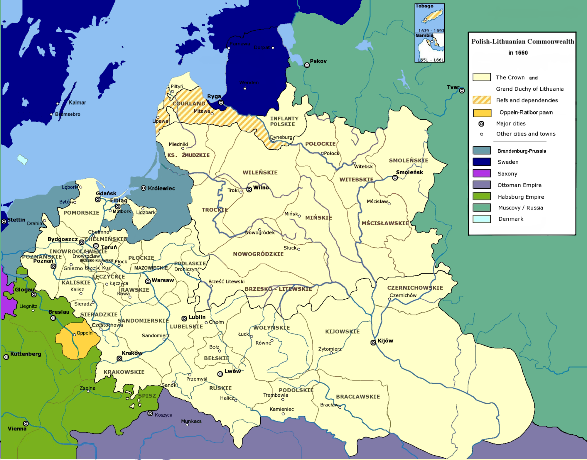 File:Polish-Lithuanian Commonwealth in 1660.PNG - Wikipedia, the ...