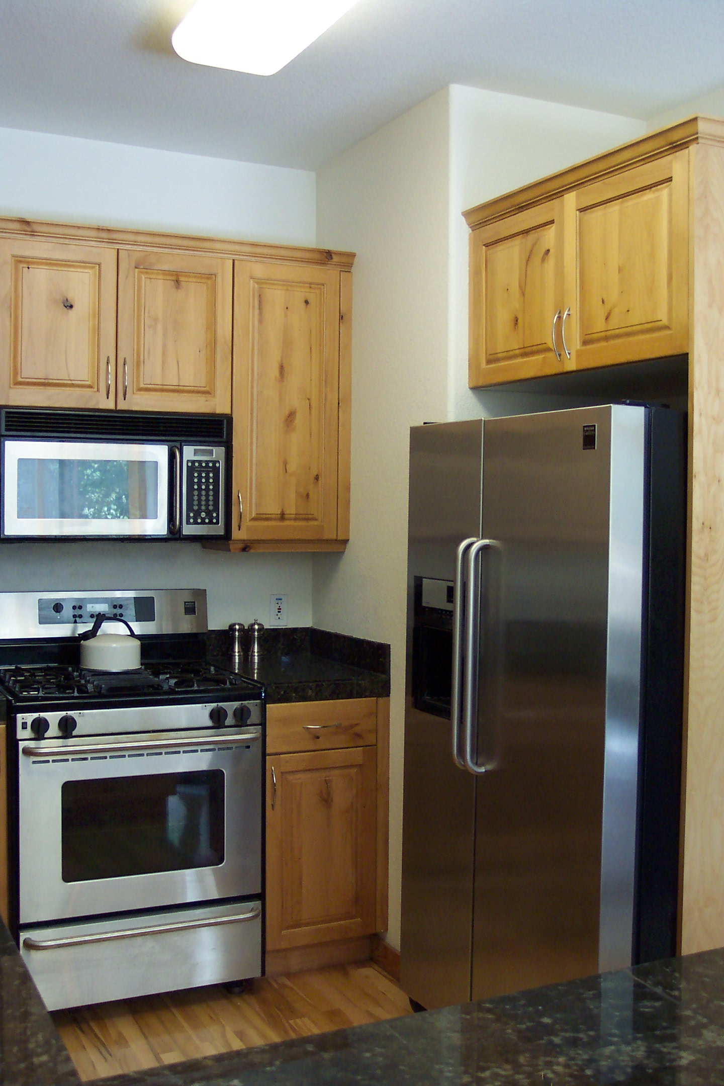 Stainless Steel Kitchen Cabinets Wood Floors