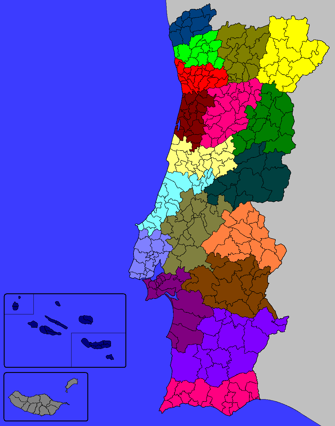 FilePortuguese Municipalities DistrictsPNG Wikimedia Commons - Portugal map districts