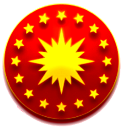 Seal of the President of Turkey. Yıldızlar tar...
