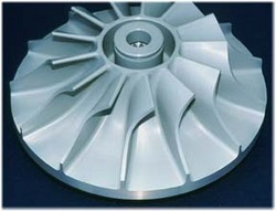 Radial turbine turbine in which the flow of the working fluid is radial to the shaft