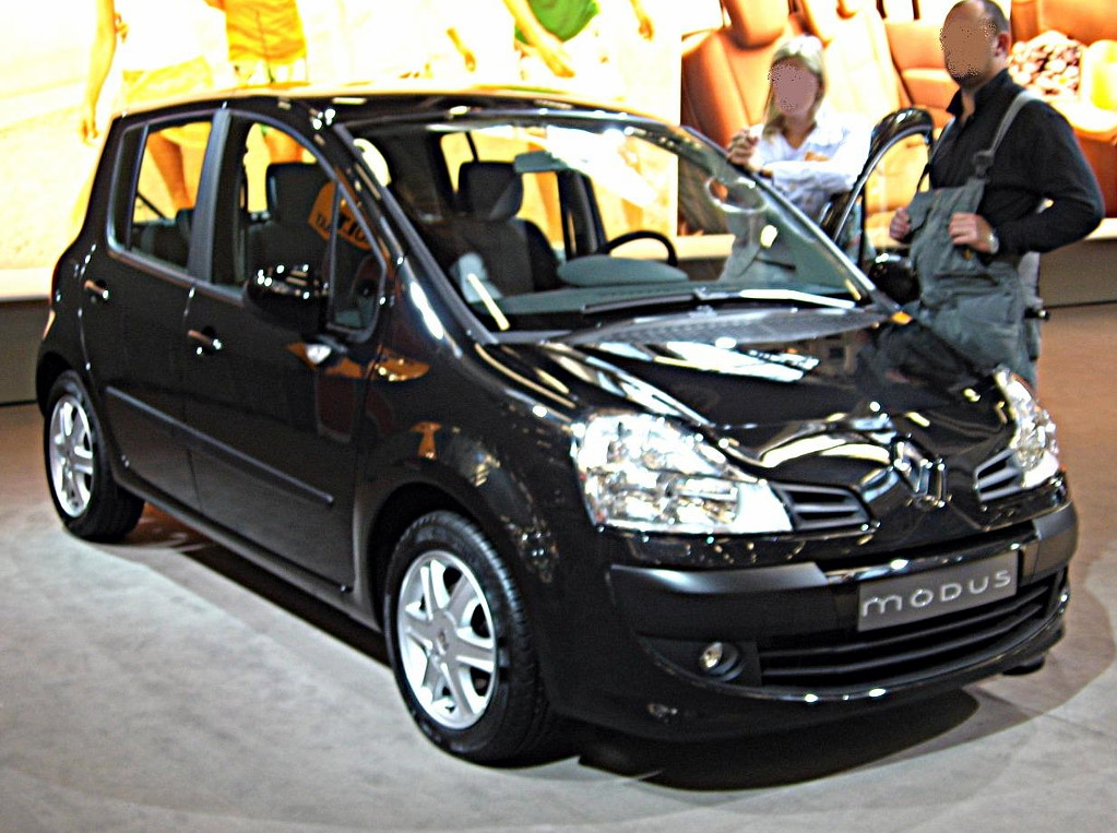 file renault modus my08 front view jpg wikimedia commons. Black Bedroom Furniture Sets. Home Design Ideas