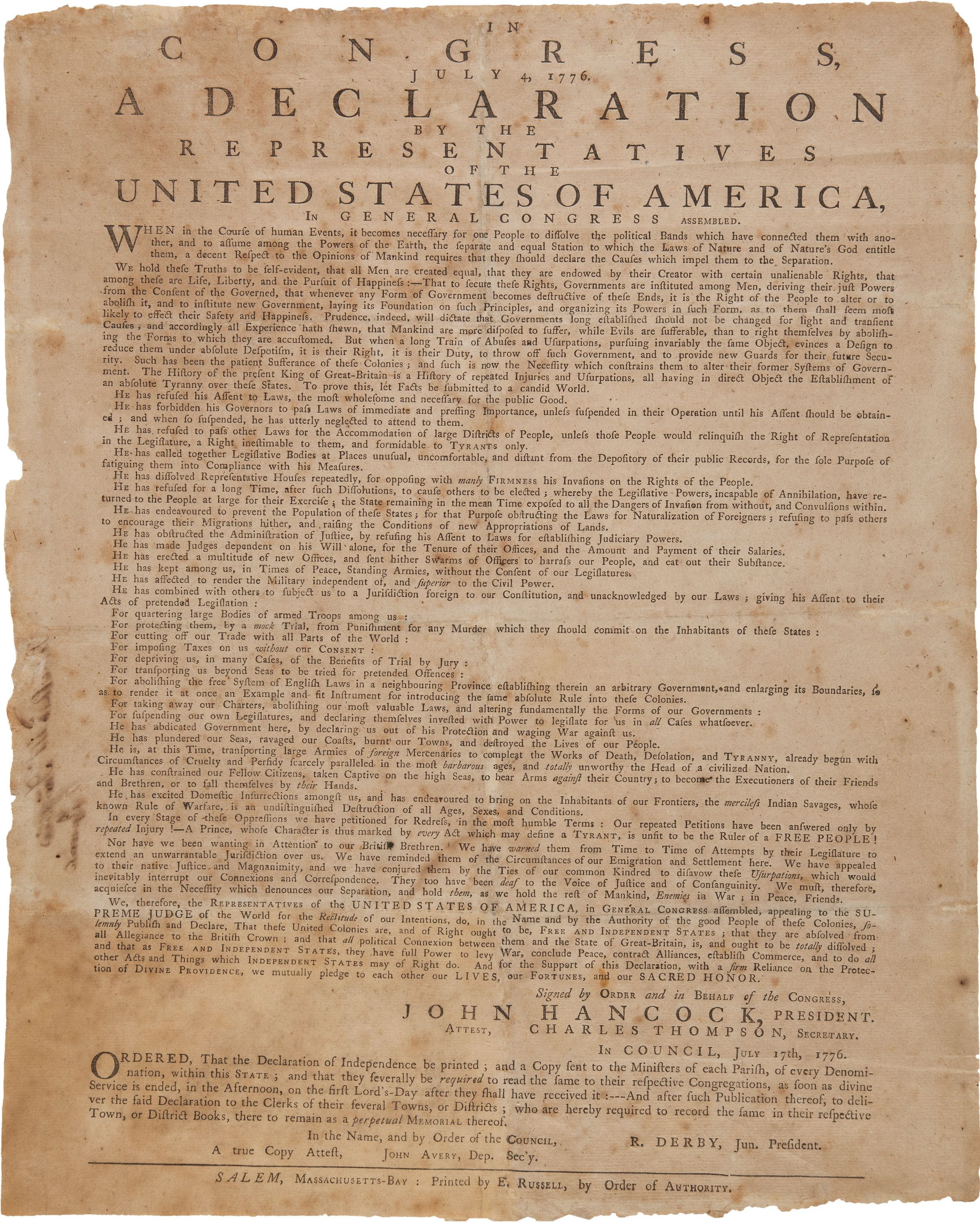 an introduction to the history of the declaration of independence and equality Introduction 2 thinking about the and literacy in history/social studies: what is equality of equality described in the declaration of independence or the.