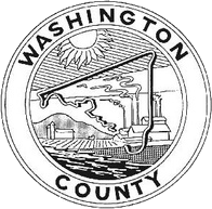 The Washington County seal from 1950 to 1988; de facto as it was never officially adopted.