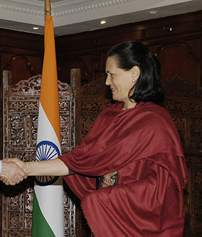 Sonia Gandhi in 2009.