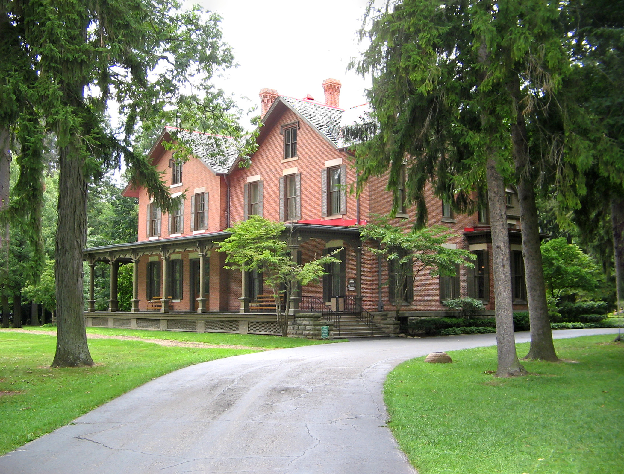 The Rutherford B. Hayes House at Spiegel Grove.