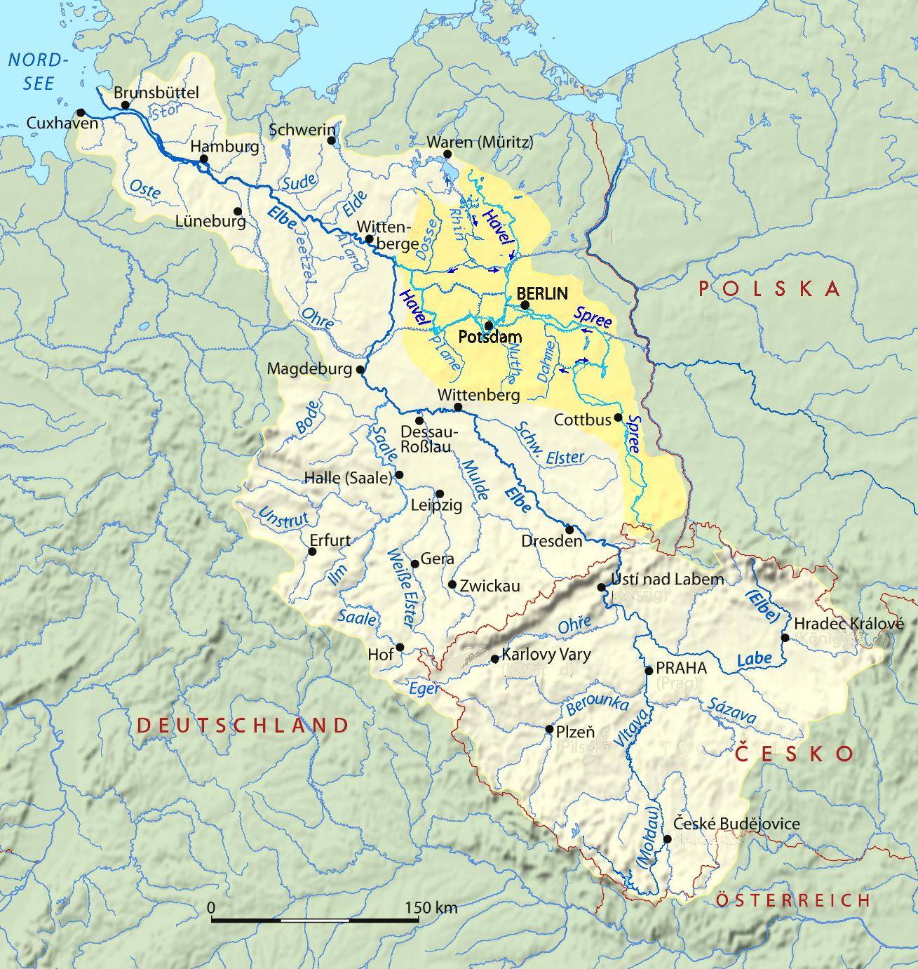 Datei Spree Havel In Elbe Basin Png Wikipedia