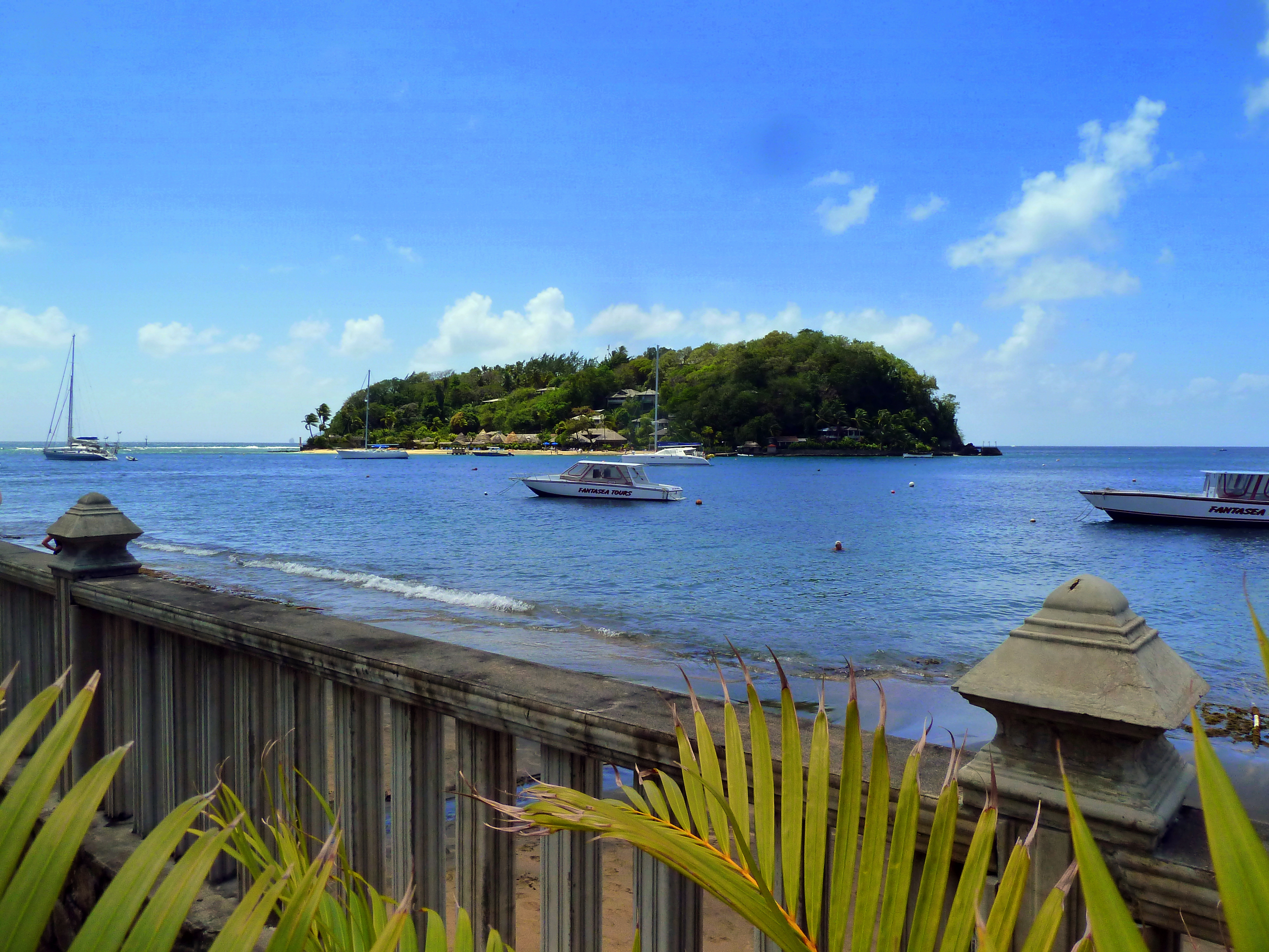 File St Vincent Karibik Paradise Beach Hotel View Of Young Island
