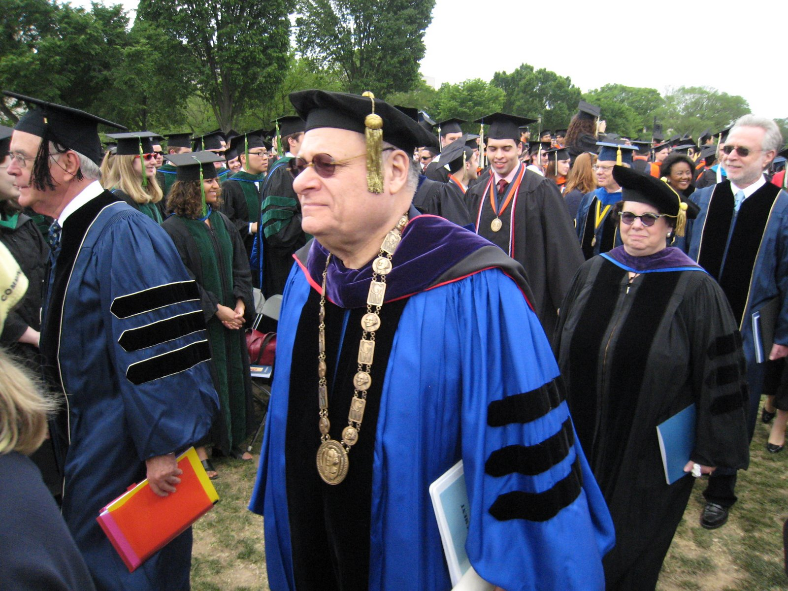President Trachtenberg at his final GWU Commencement.