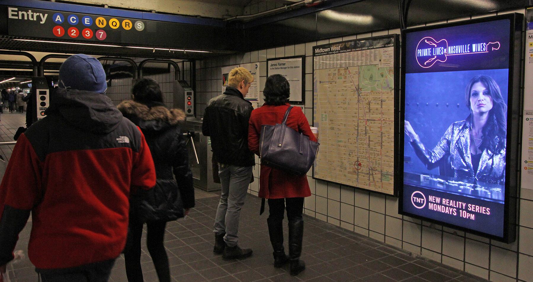 تبلیغات در مترو تهران