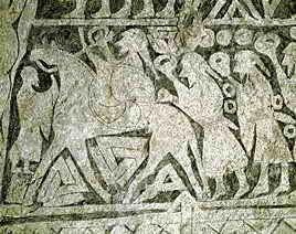 Tängelgardský kámen - Ódin na Sleipnirovi