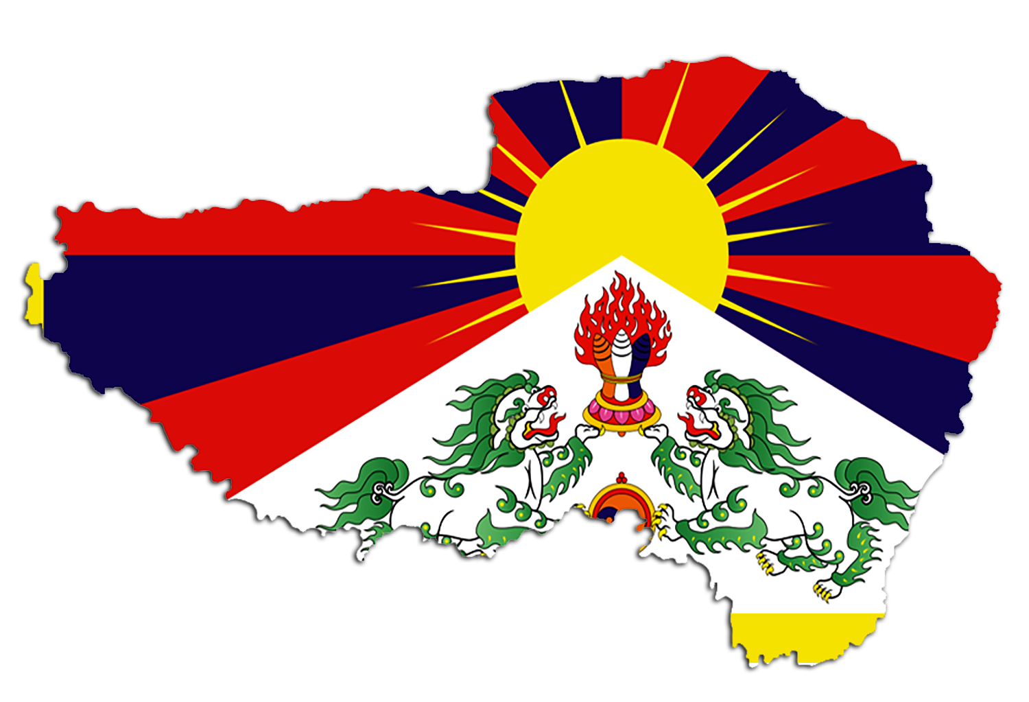 File:The National Flag of Tibet.png - Wikimedia Commons