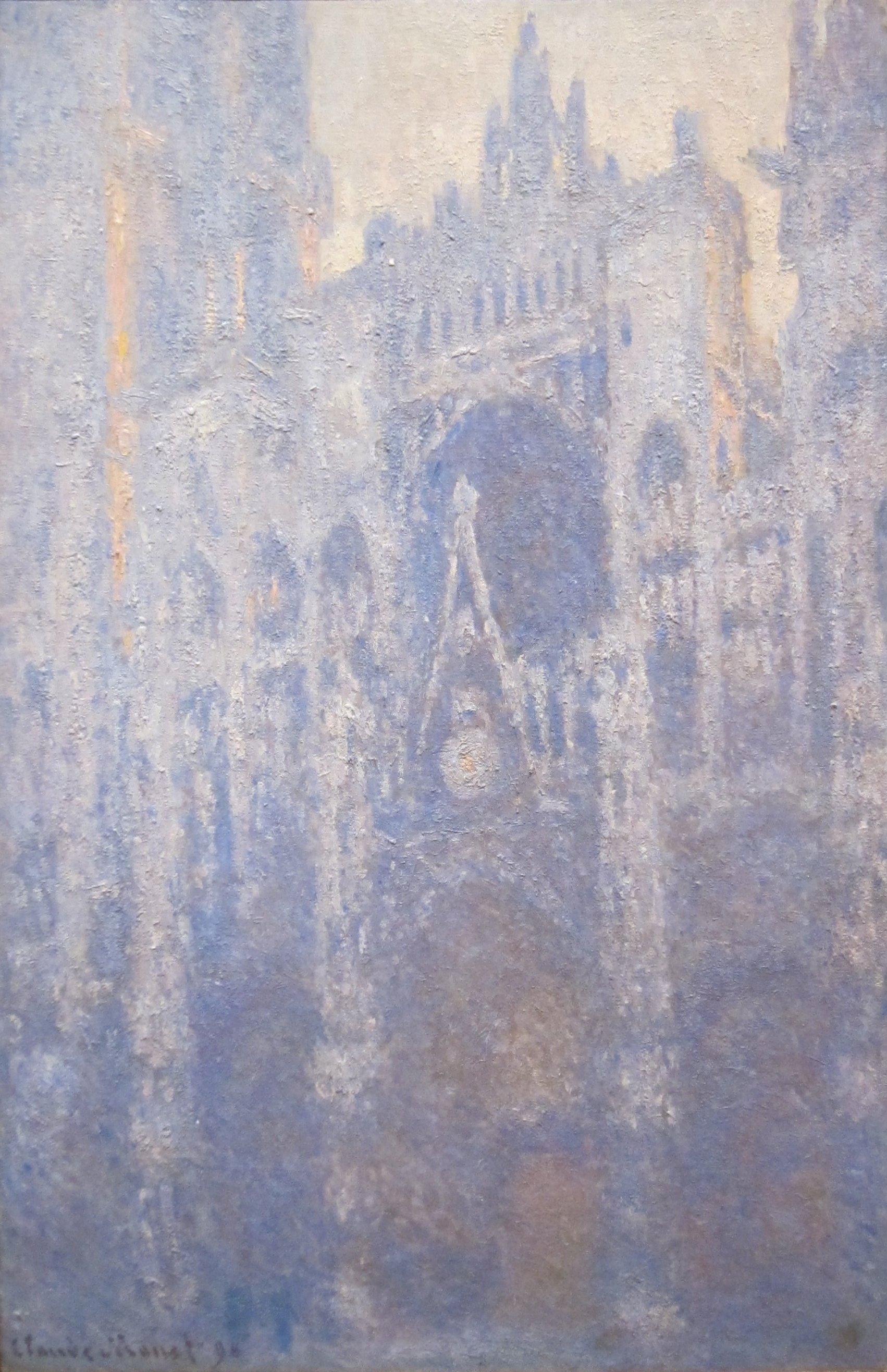 file the portal of rouen cathedral in morning light oil on canvas painting by claude monet. Black Bedroom Furniture Sets. Home Design Ideas