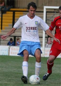 Mikaelsson during his time with aston villa