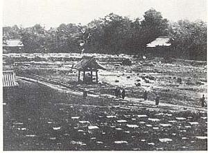 在上野戰爭中遭到破壞的寬永寺,攝於1868年