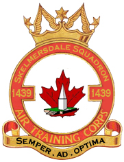 1439 Sqn Crest showing Ashurst Beacon and Canadian Maple Leaf