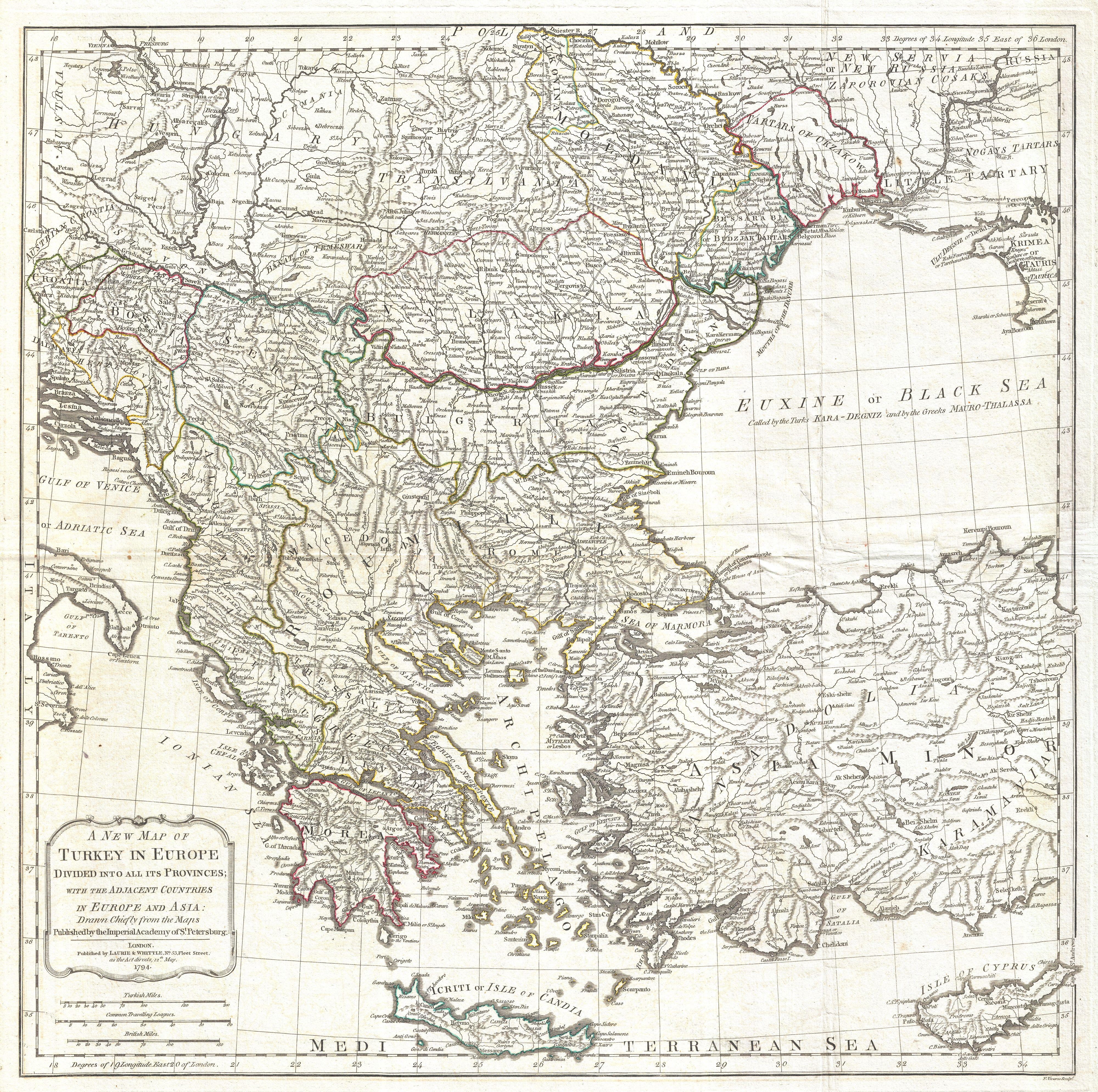 File1794 Laurie and Whittle Map of Greece Turkey andamp the