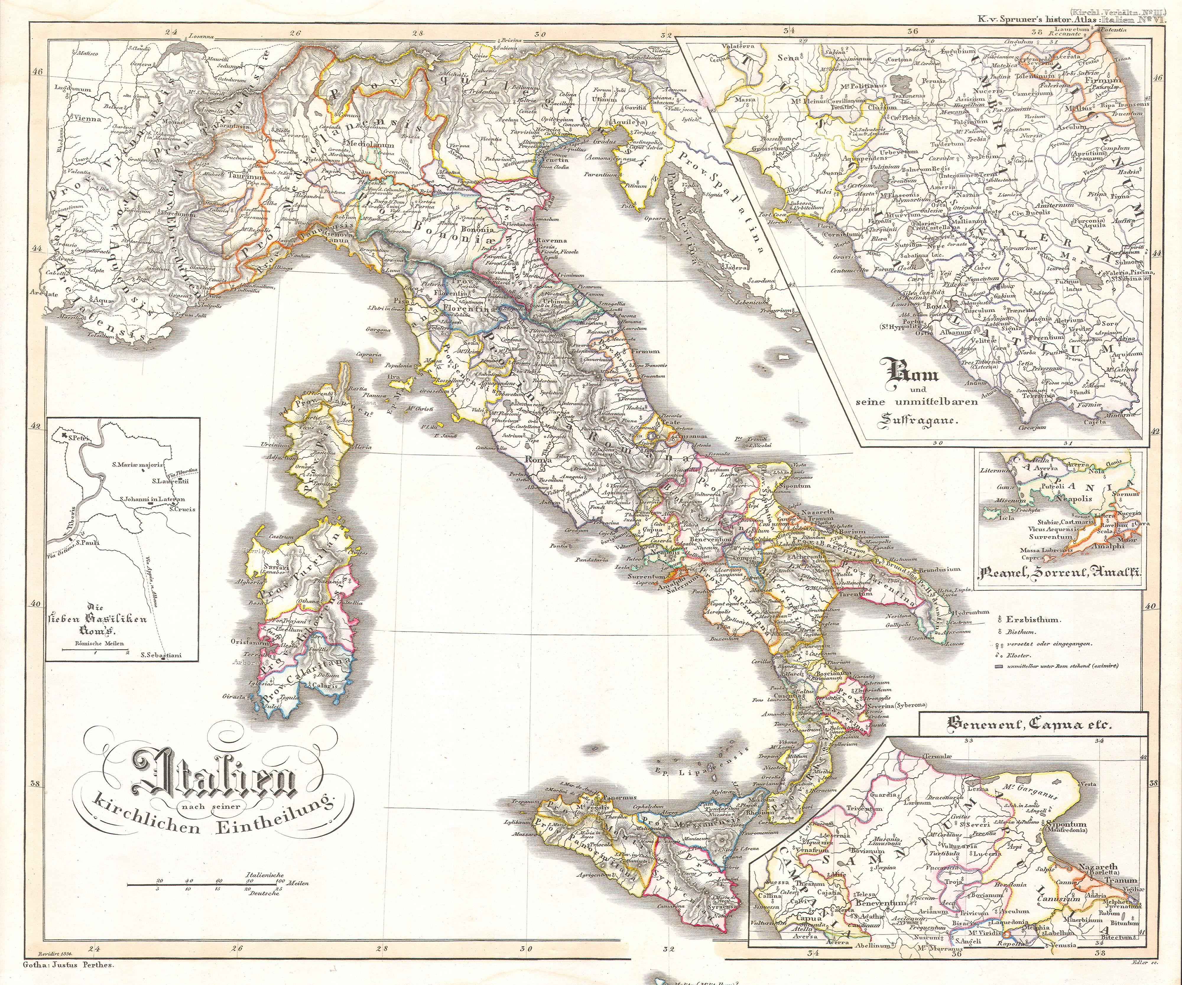 File:1850 Justus Perthes Map of Italy - Geographicus - Italy-perthes ...