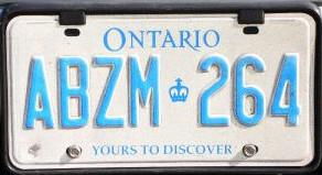 файл 1997 Ontario License Plate Abzm 264 Jpg вікіпедія