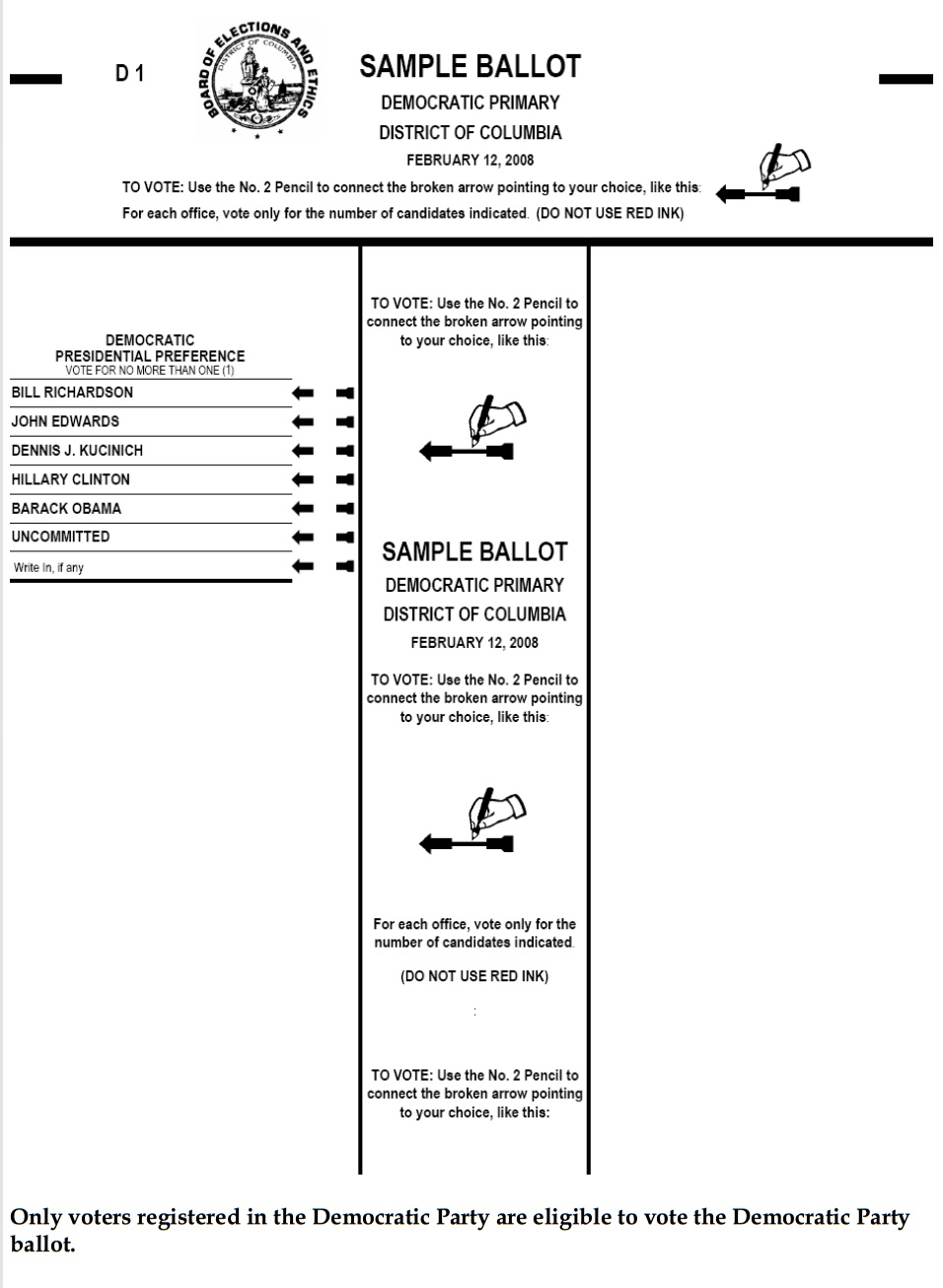 Sample Ballot For  Election For Rock Island County Illinois