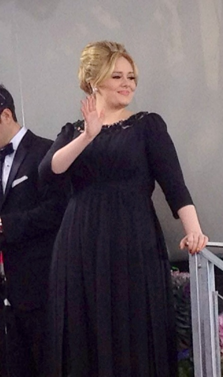 Adele at the 70th Golden Globe Awards in Beverly Hills, California, on 13 January 2013
