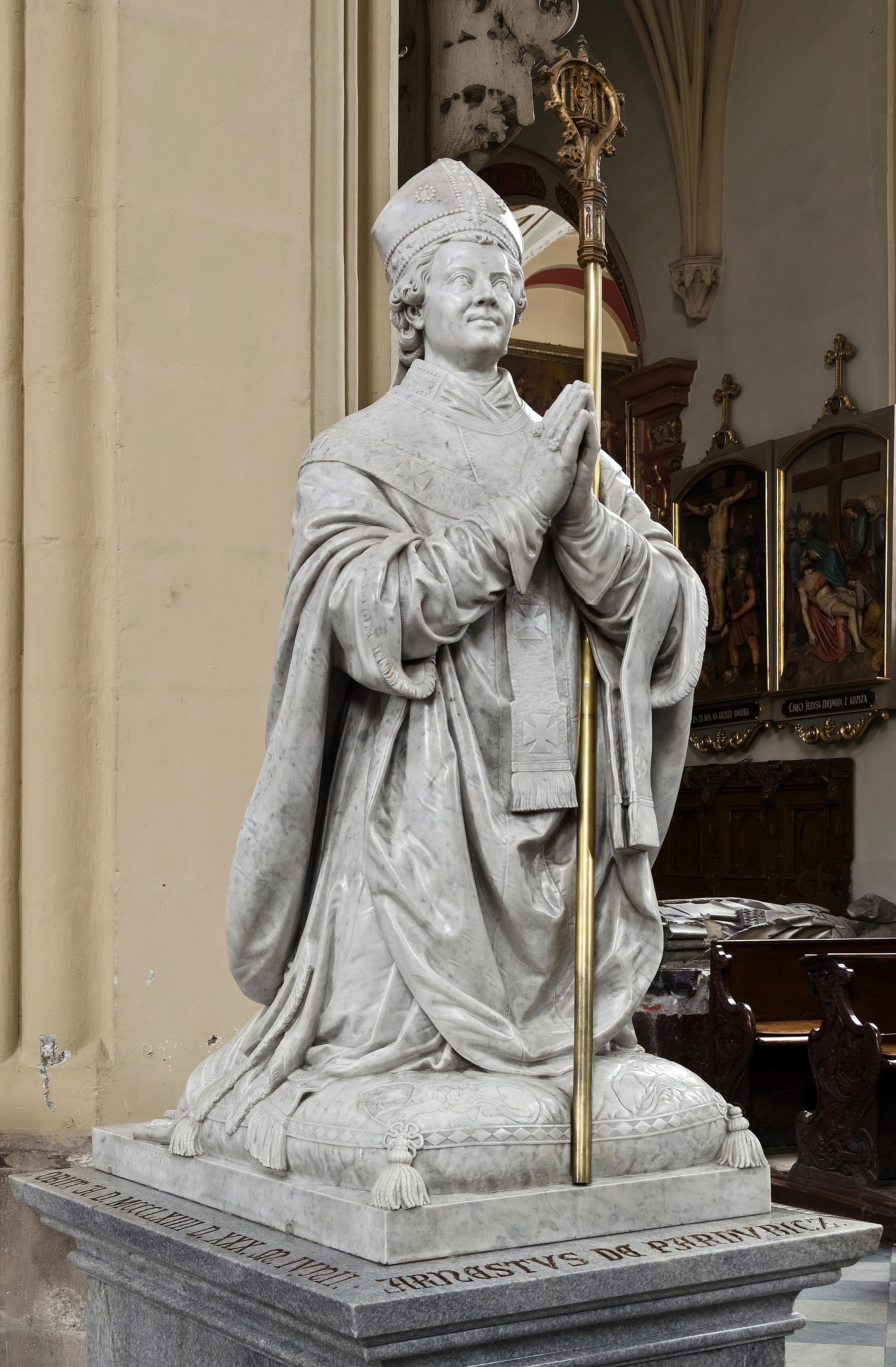 Ernst of Pardubitz - gravestone in Assumption Church in [[Kłodzko