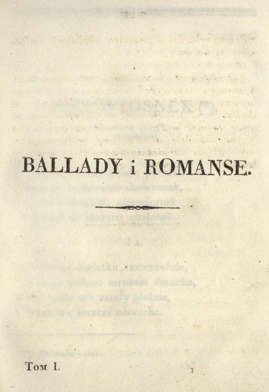 Ballady I Romanse Wikipedia Wolna Encyklopedia