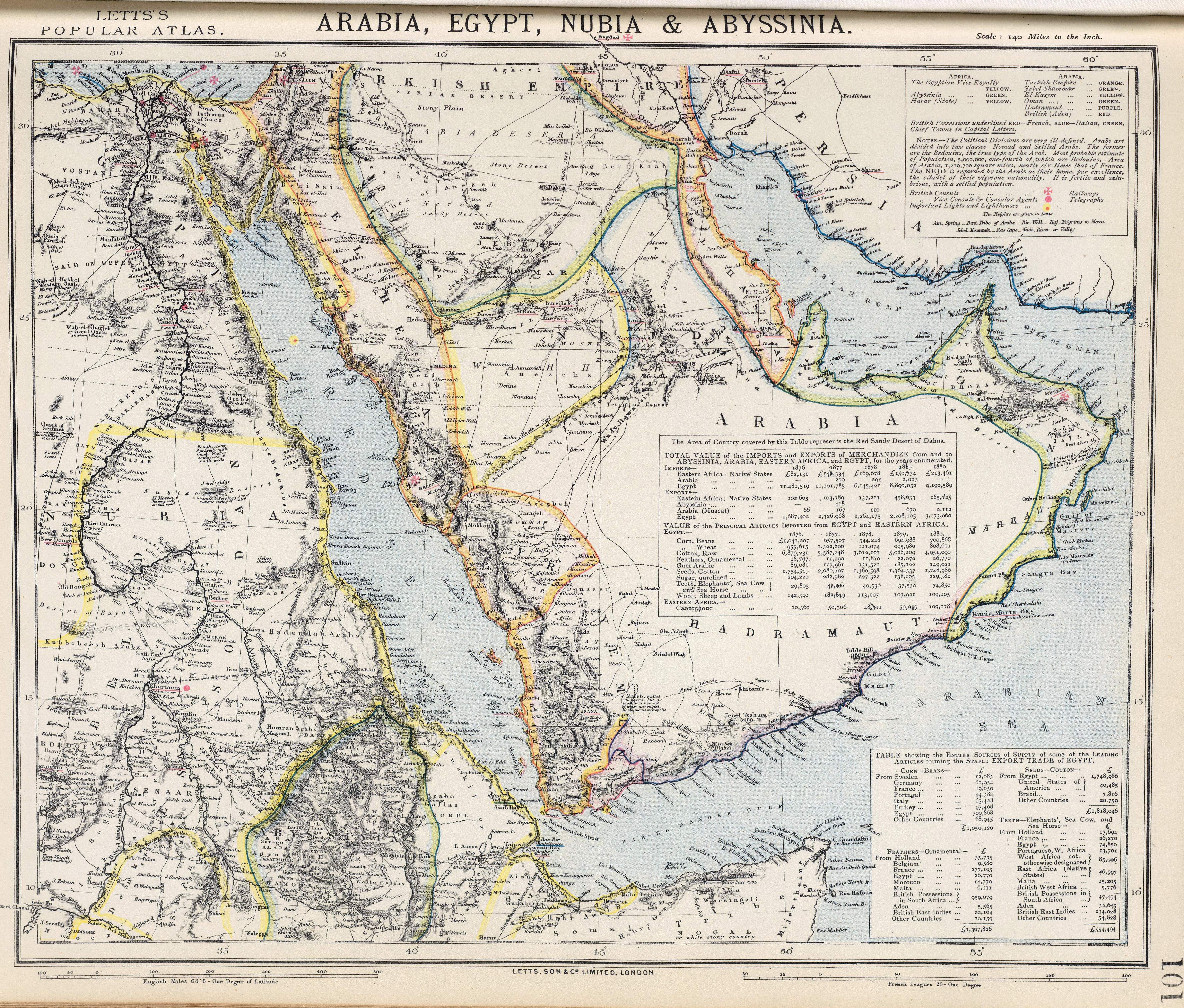 FileArabia Egypt Nubia And Abyssinia Mapjpg Wikimedia - Map of egypt 2017