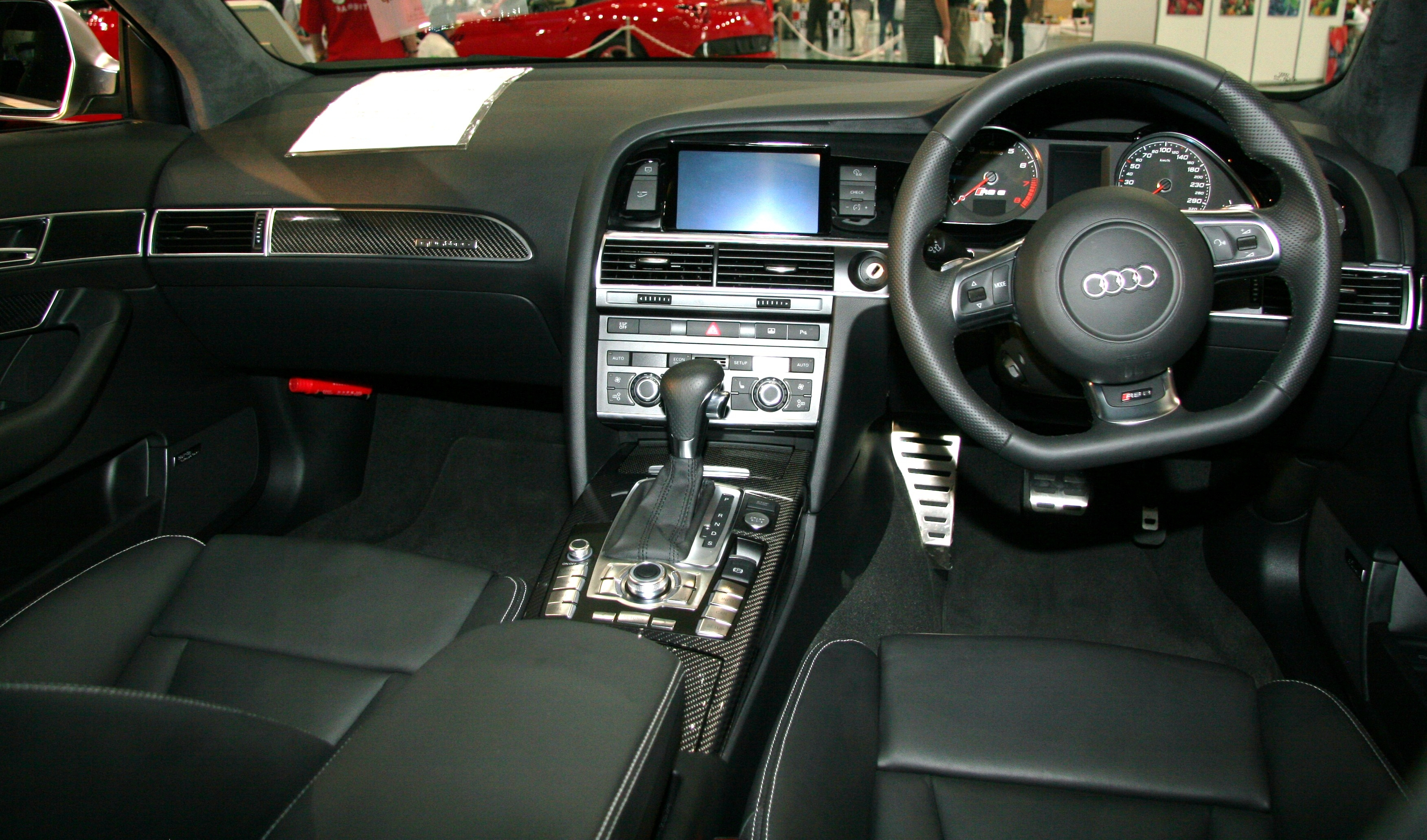 File Audi Rs6 C6 Interior Jpg Wikimedia Commons