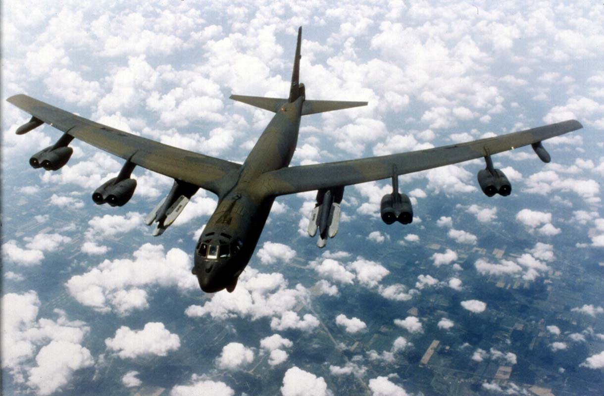 B-52 Bomber in Flight