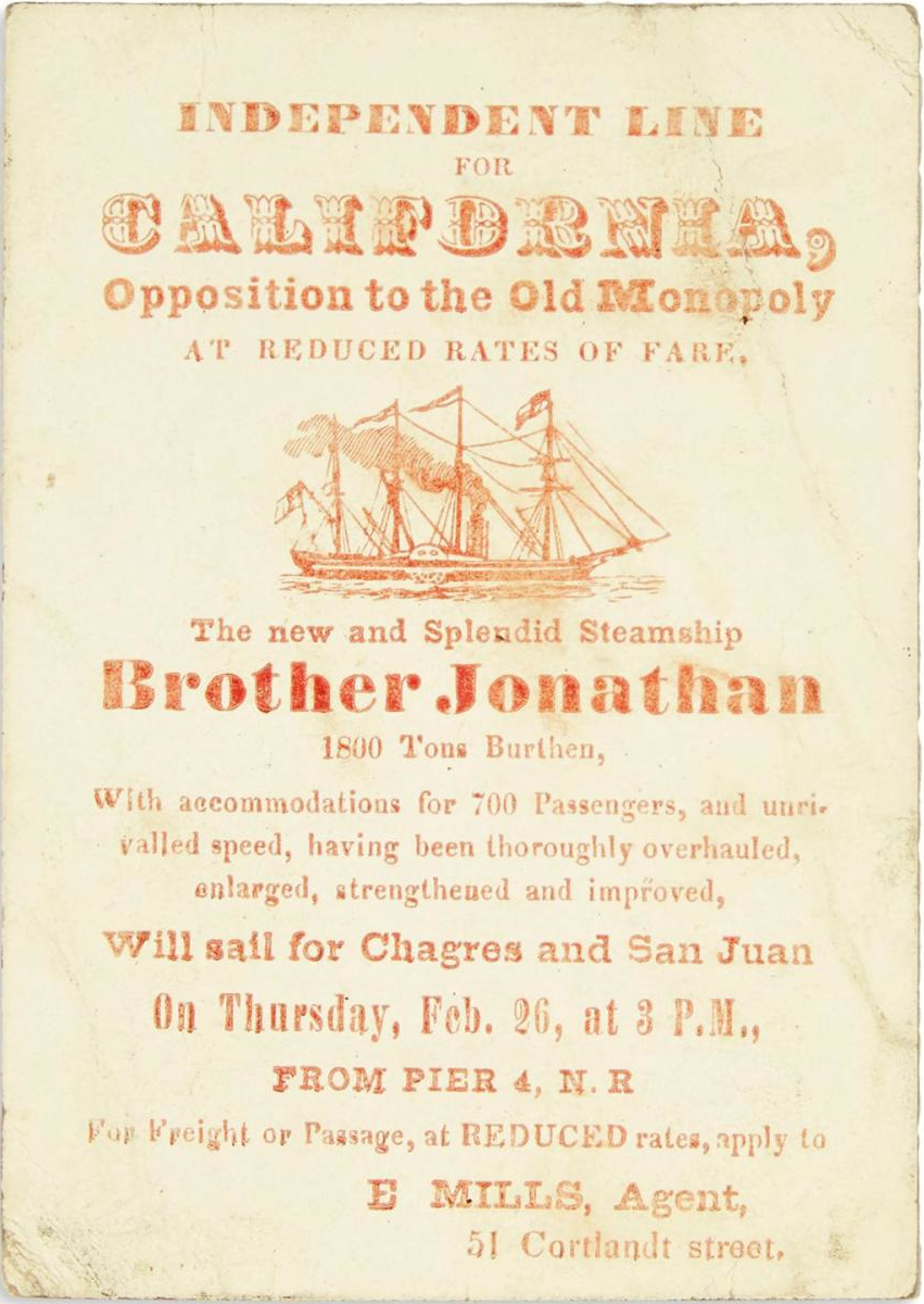 advert for the brother jonathan