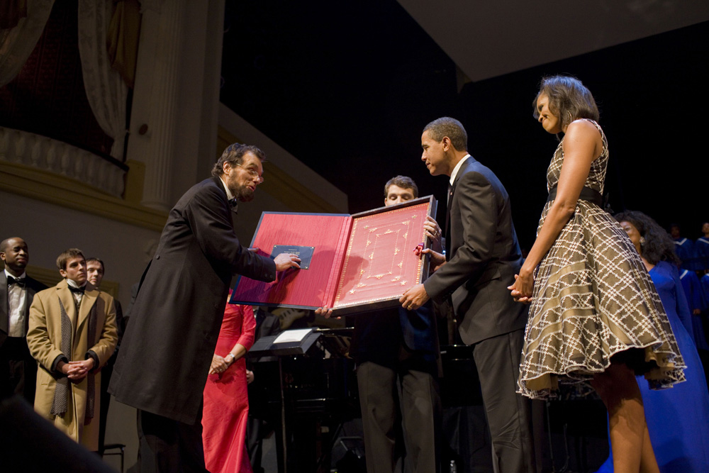 File:Barack & Michelle Obama at Ford's Theatre 2-12-09.jpg. By: BrokenSphere