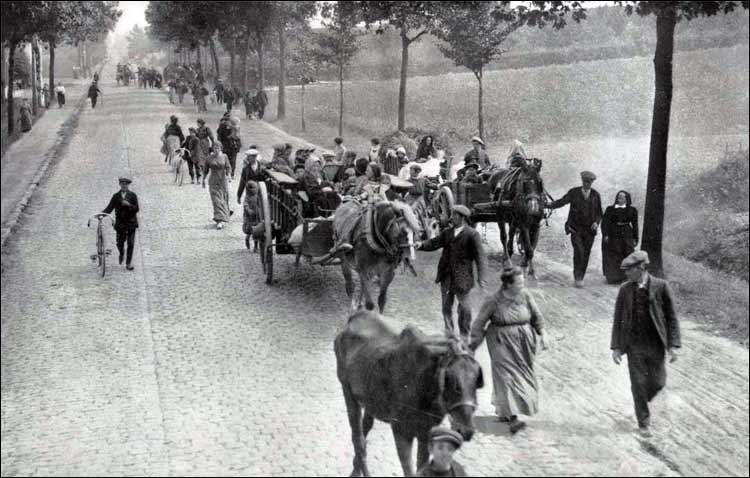 Réfugiés Belgian_refugees_1914