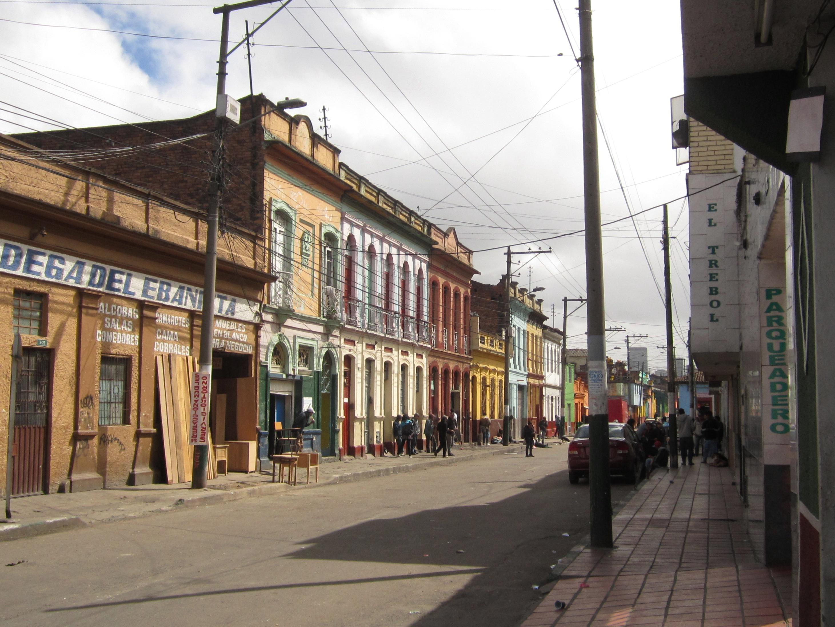 File Bogot Barrio San Bernardo Carrera 11 Entre Calles Cuarta Y  # Muebles Bernardo