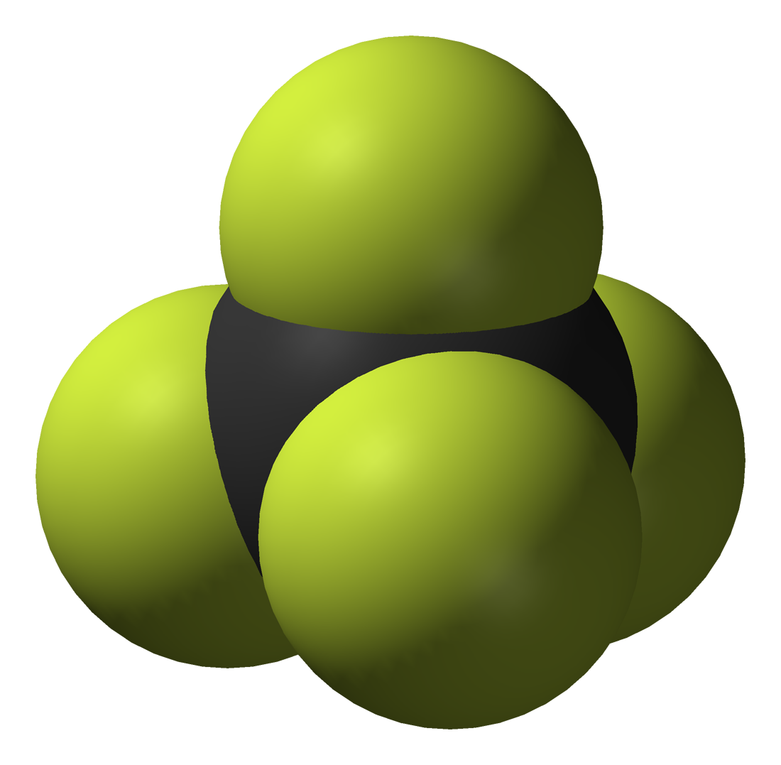 File:Carbon-tetrafluoride-3D-vdW.png - Wikimedia Commons
