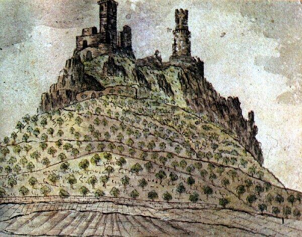 Castle Hazmburk (1833)