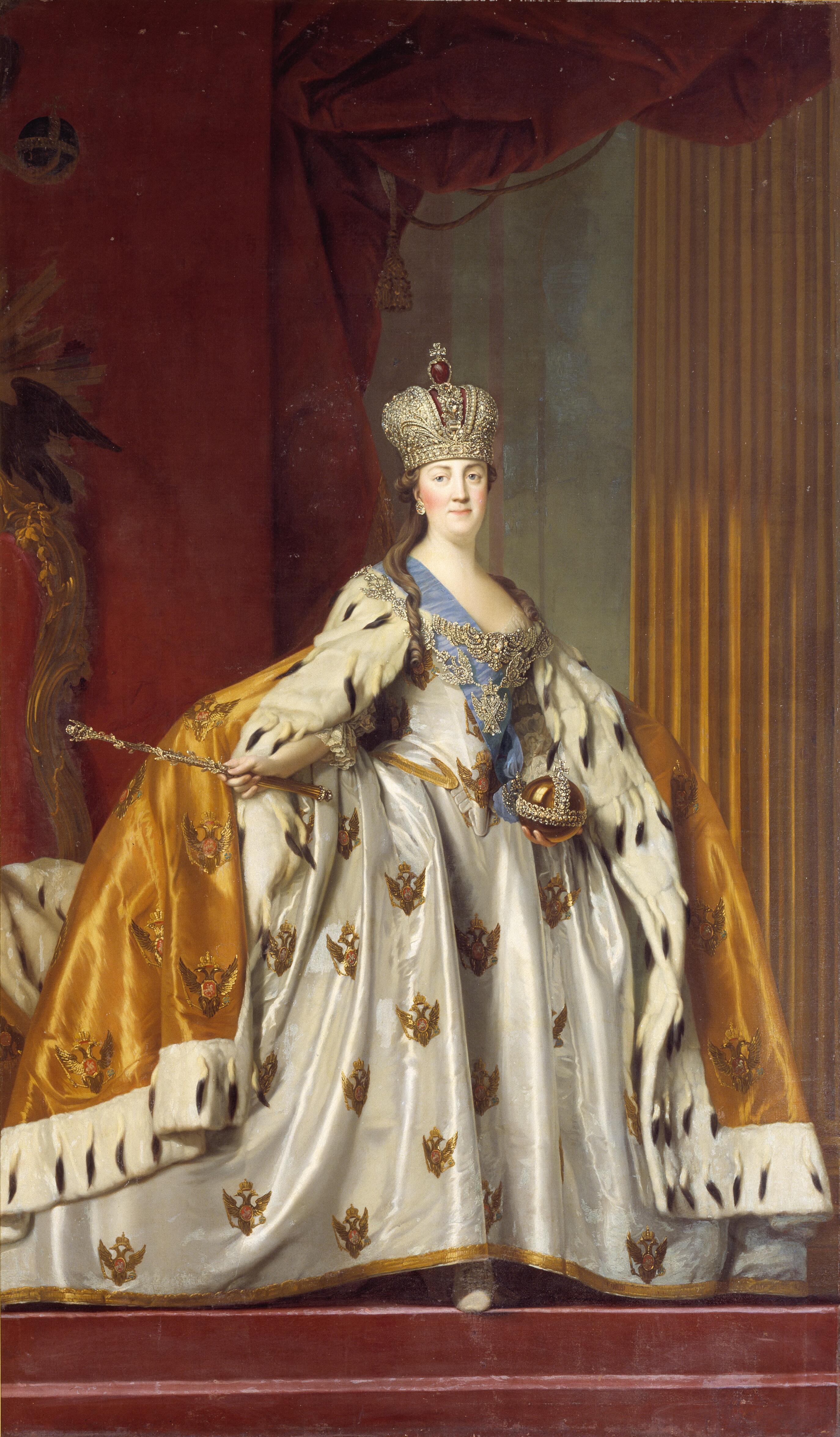 Depiction of Catalina II de Rusia