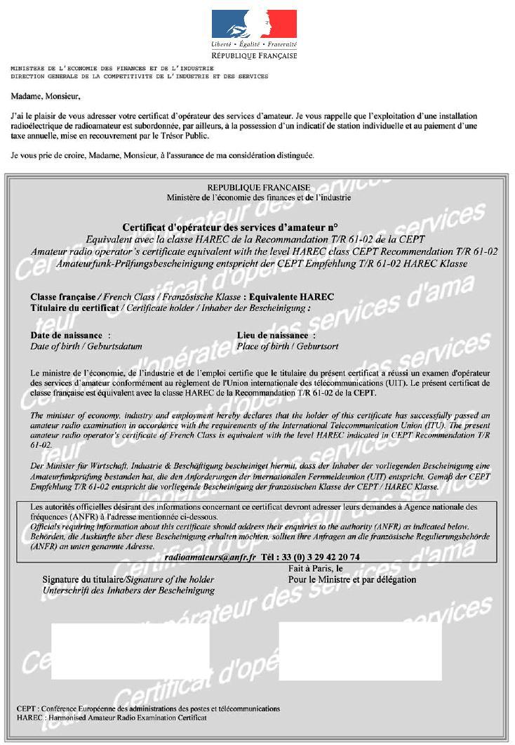 Topik des bidouilleurs d'électronique, électricité, mécanique, trucs en carton...  - Page 10 Certificat_radioamateur