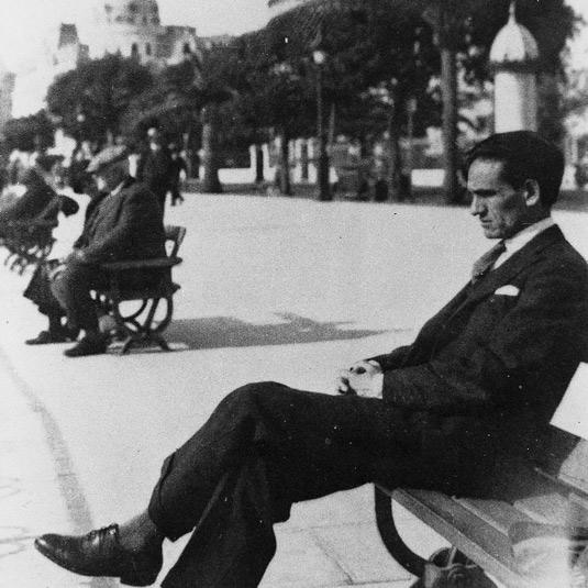 César Vallejo en Niza, 1929