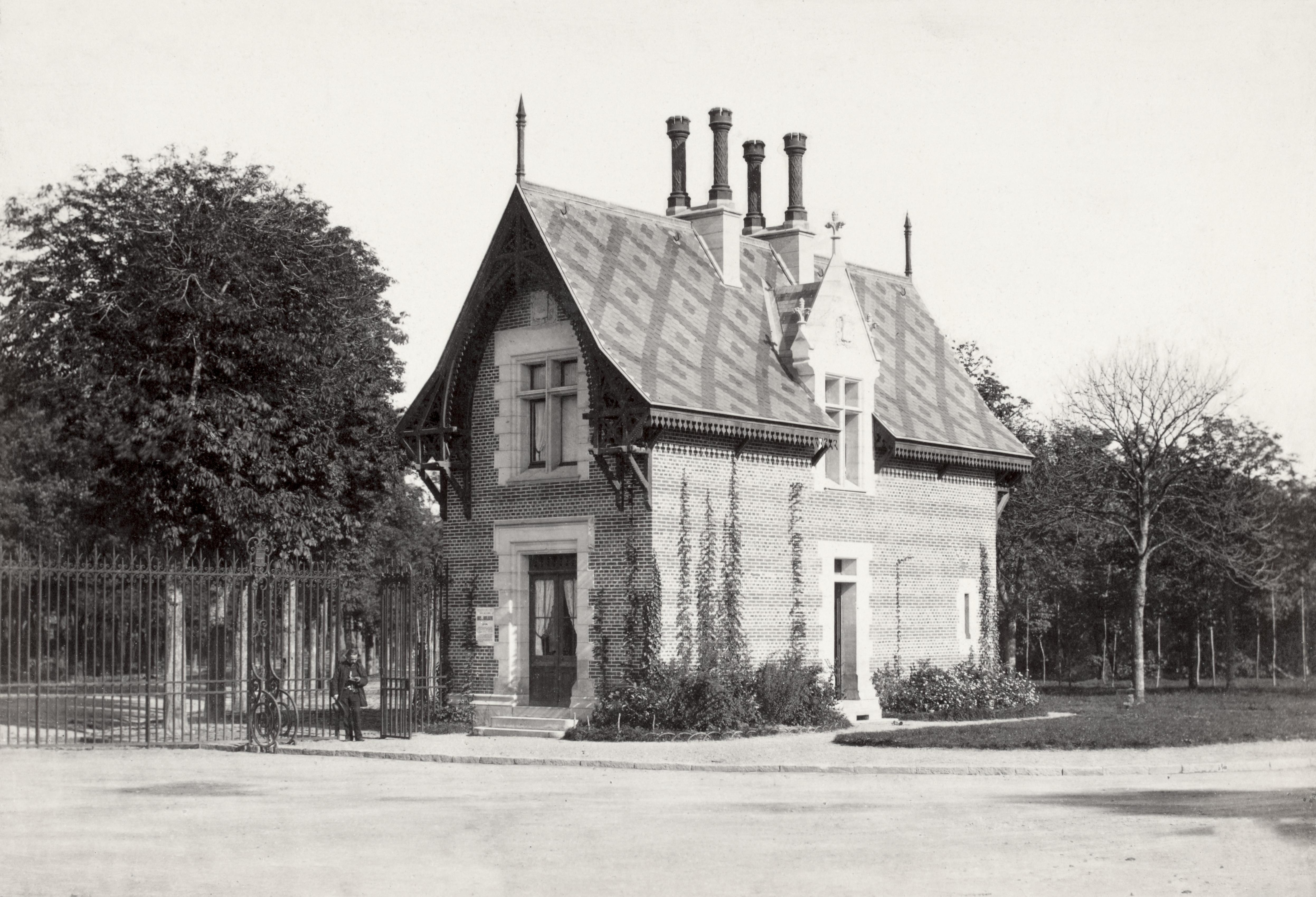 file charles marville bois de boulogne maisons de gardes vi ca 1853 70 jpg wikimedia commons