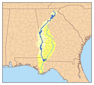 Chattahoochee River Wikipedia - Georgia map lakes