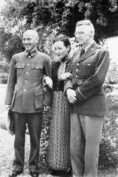 Generalissimo and Madame Chiang Kai-shek with General Stilwell in Burma (1942).