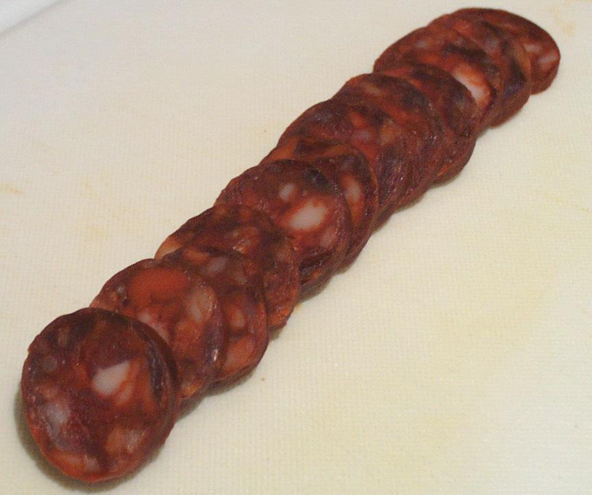 File Chorizo cortado