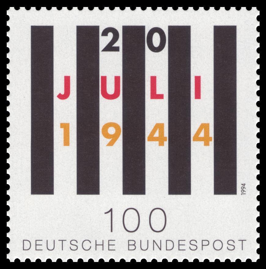 50. Jahrestag des Attentats auf Adolf Hitler am 20. Juli 1944