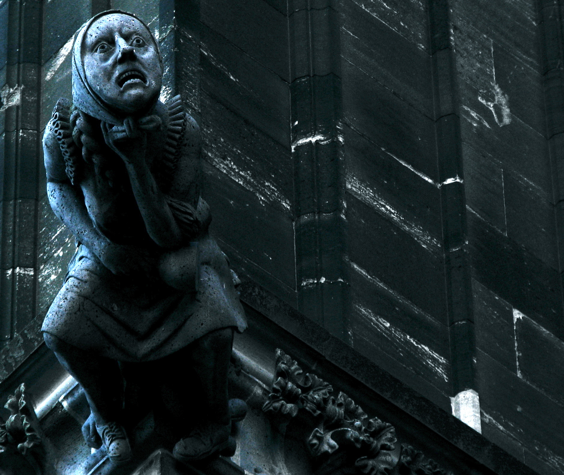 Cologne Cathedral Gargoyles Creepy Cologne Cathedral