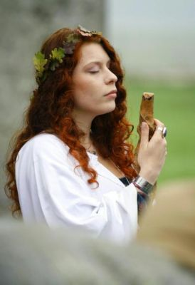 A Druid at Stonehenge