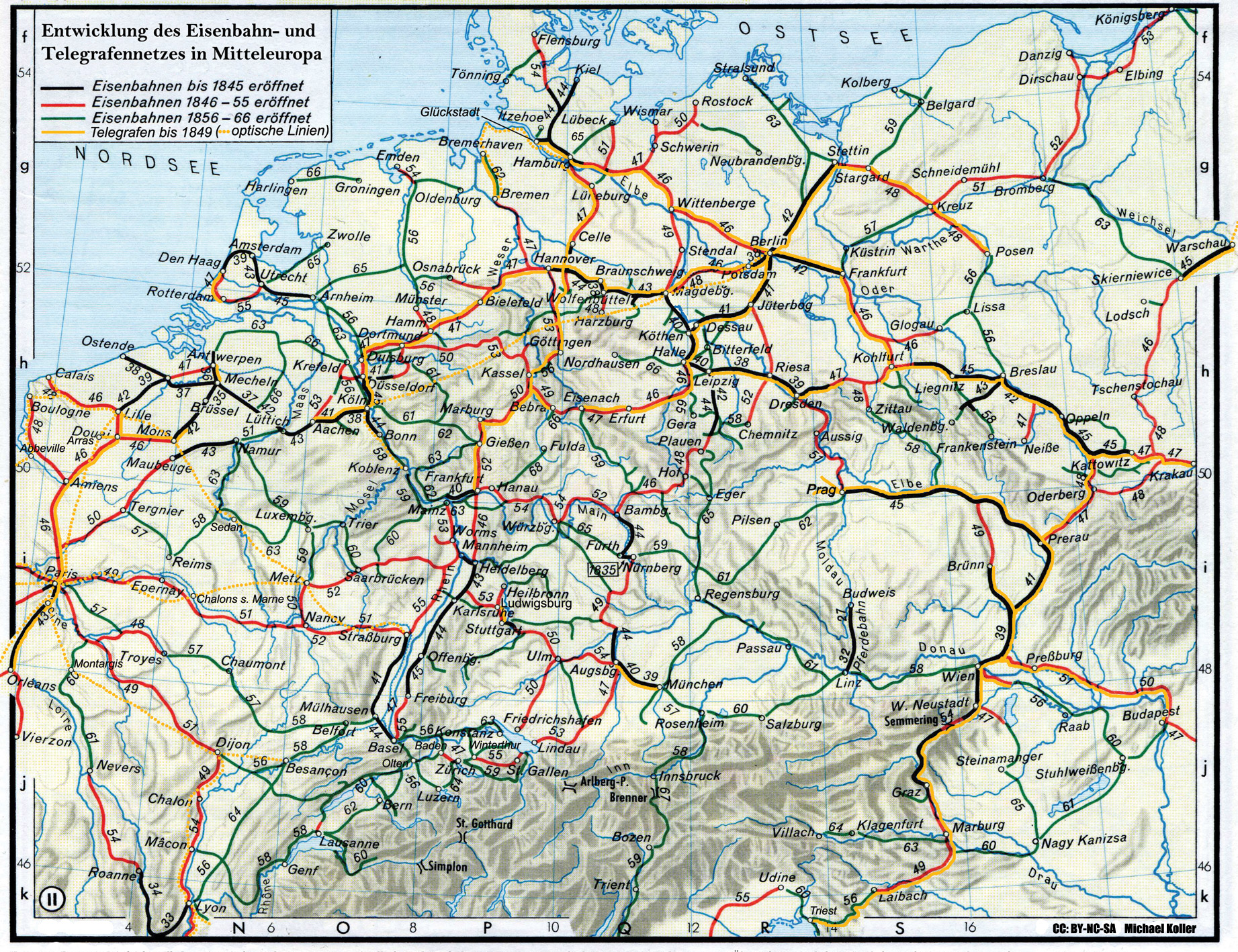 Germany Railway Map - Germany map salzburg