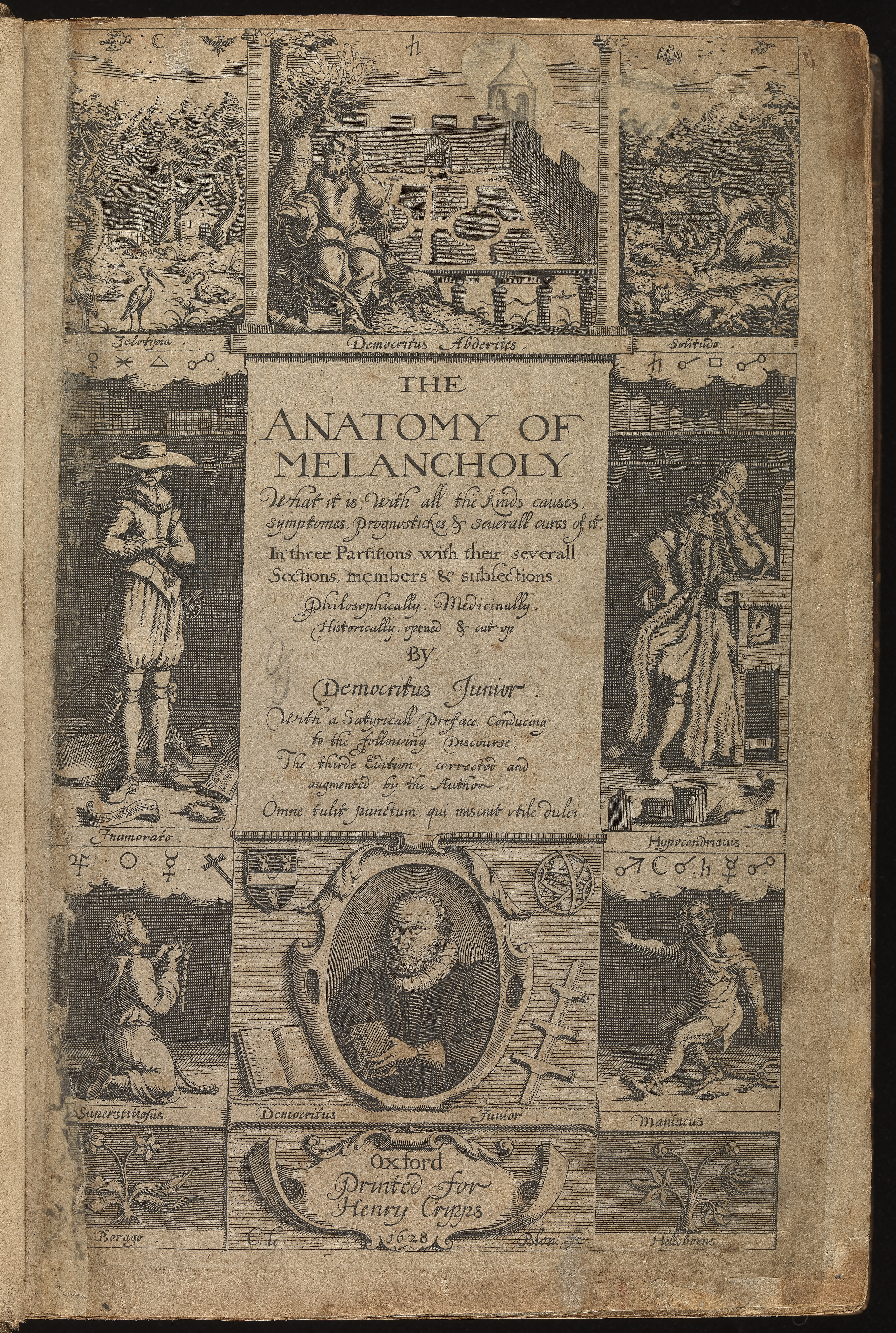Fileengraved Title Page To The Anatomy Of Melancholy Wellcome